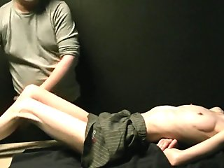 Anorexic Japanese Being Massaged